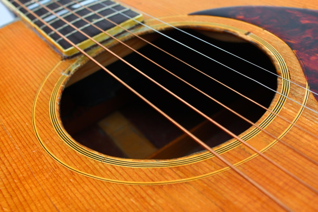 steel string acoustic guitar example close up