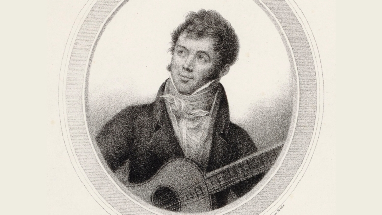 Classical guitar composer Fernando Sor (1778-1839).
