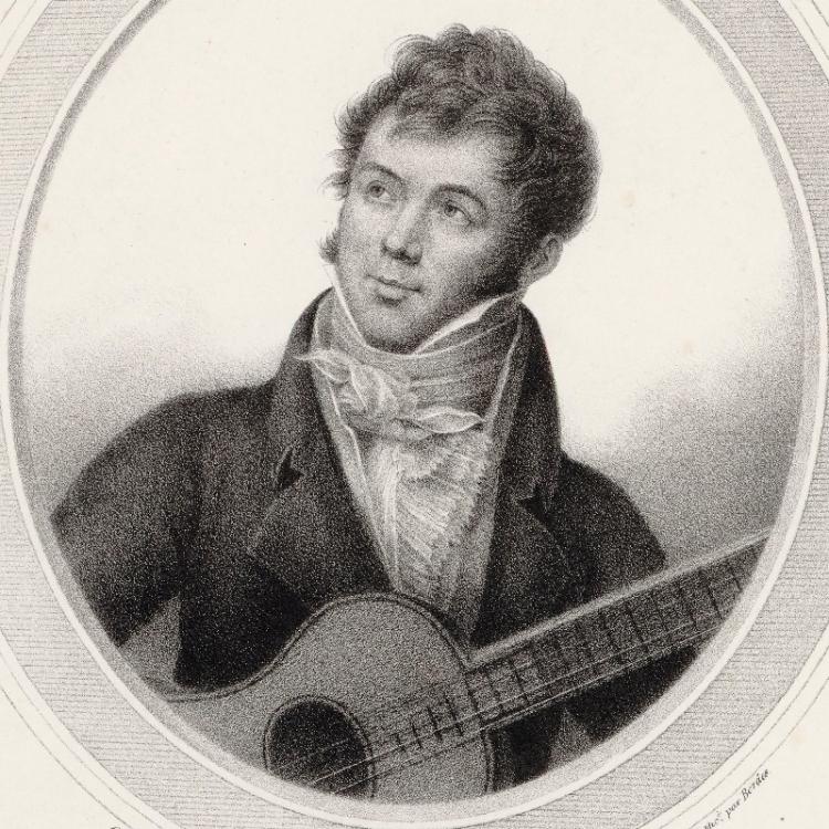 Portrait of Fernando Sor, classical guitar composer
