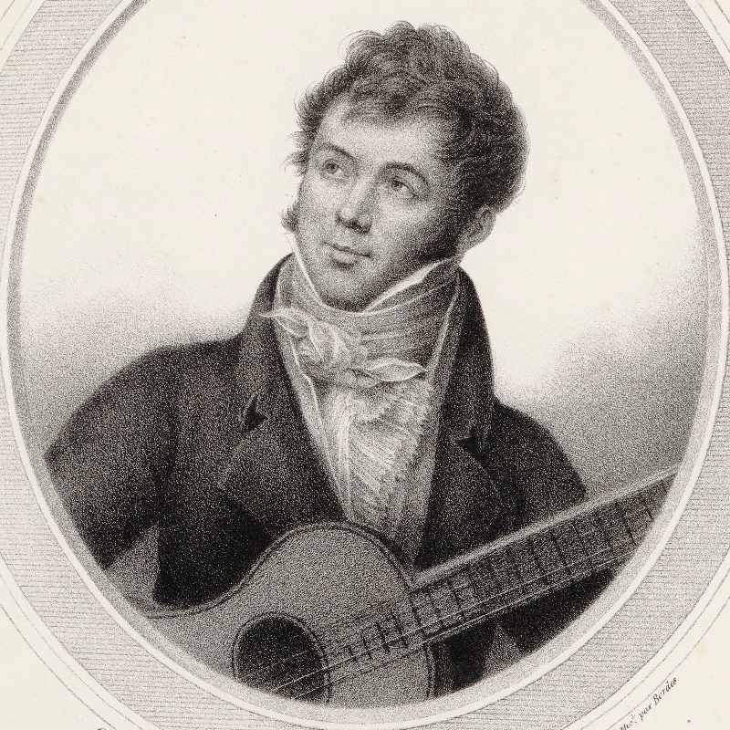 Portrait of Fernando Sor, classical guitarist and composer