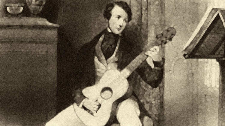 Classical guitarist and composer Matteo Carcassi