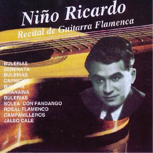 Flamenco guitarist Niño Ricardo album Recital de Guitarra Flamenca