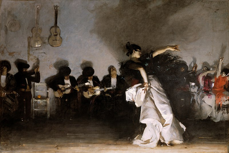 El Jaleo, a painting of flamenco dancer and guitarists by John Singer Sargent
