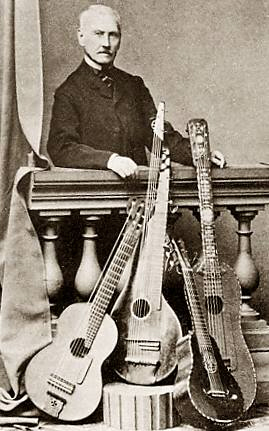 French classical guitarist and composer Napoléon Coste