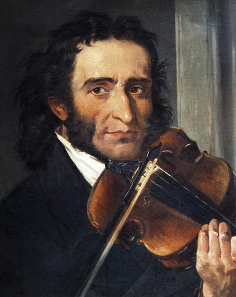 Portrait of Italian violinist and composer Niccolò Paganini