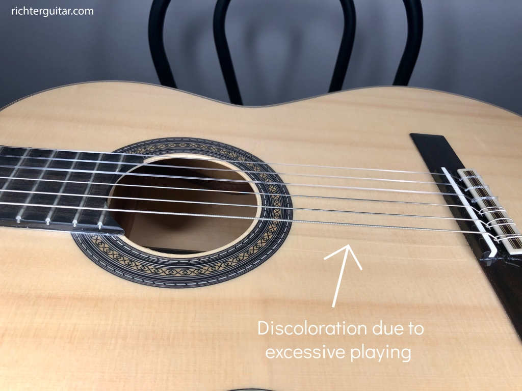 Old used classical guitar strings how to tell when guitar string needs to be changed