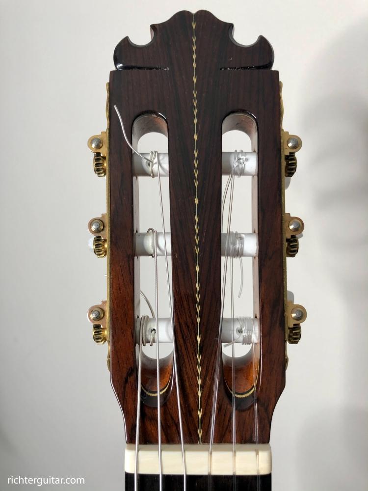 Manuel Contreras 1985 Doble Tapa classical guitar head design Jonathan Richter's guitar